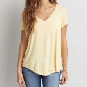 AMERICAN EAGLE V NECK SOFT AND SEXY TEE SHIRT